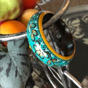 Take 50% off!!🌺 Hand Painted Wood Bangle